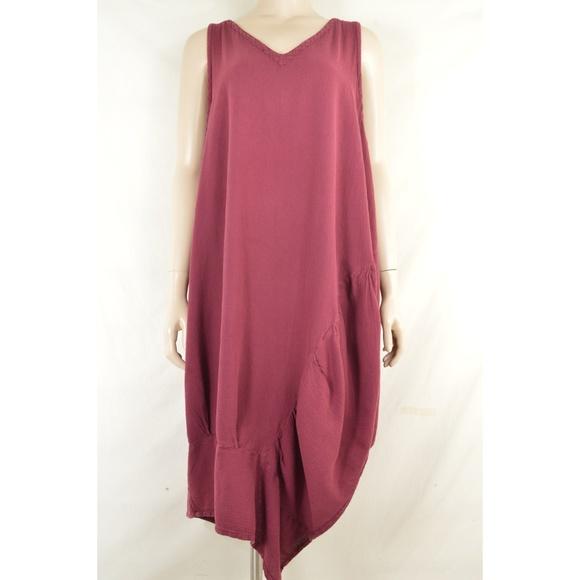 Oh My Gauze! Dresses & Skirts - Oh My Gauze dress sleeveless M/L wine lagenlook